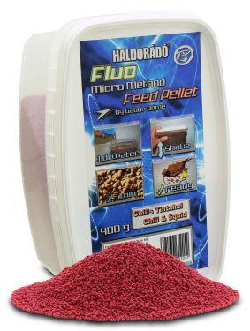 Haldorádó - Fluo Micro Method Feed Pellet - Chili si Sepie / Chili & Squid